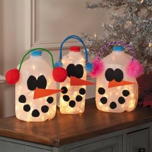 Muñecos Nieve con Botes