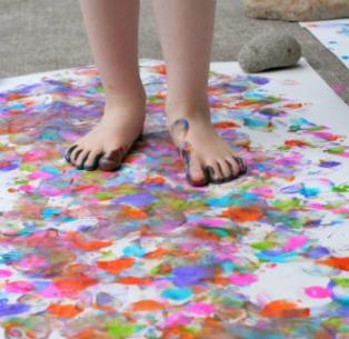 Resultado de imagen de pintamos con los pies