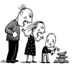 familia que grita